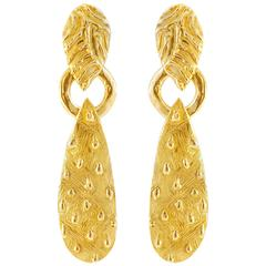 Giulia Barela Salento earrings, gold plated bronze