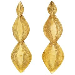 Giulia Barela Parenthesys earrings, gold plated bronze