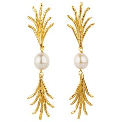Giulia Barela Madagascar  earrings, gold plated bronze