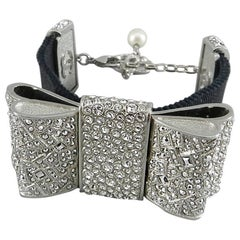 Chanel 13B rhinestone jewelled Bow Bracelet