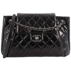 Chanel Seoul Accordion Flap Bag Glazed Calfskin Large