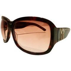 "1970'S Yves Saint Laurent Mod Unisex ""Y"" Logo Sunglasses"