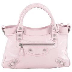 Balenciaga Town Giant Studs Handbag Leather