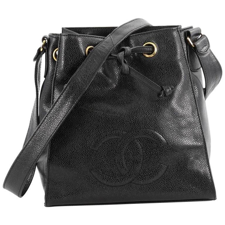 Chanel Vintage CC Drawstring Bucket Bag Caviar Small at 1stdibs acd676a684