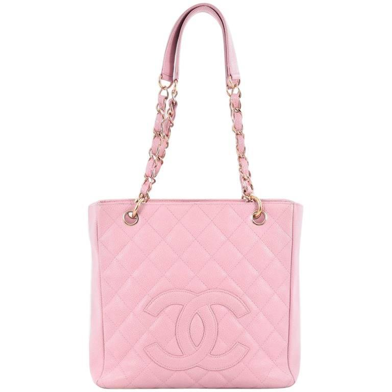 14f109881f6c2d Chanel Petite Shopping Tote Quilted Caviar For Sale at 1stdibs
