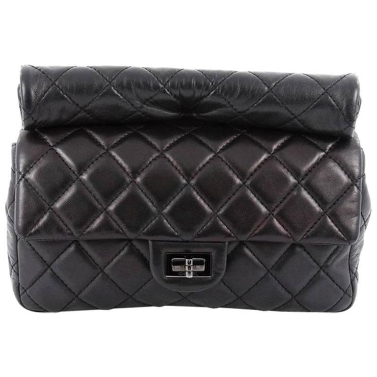 Chanel Reissue Roll Clutch Quilted Lambskin Medium For Sale
