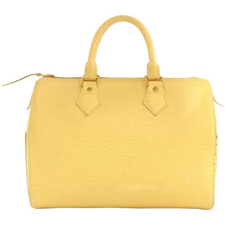 Louis Vuitton Speedy 25 Vanilla Epi Leather City Hand Bag