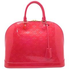 Louis Vuitton Alma GM Peach Red Vernis Handbag