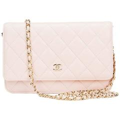 2013 Chanel Pink Quilted Lambskin Leather Wallet-on-Chain WOC