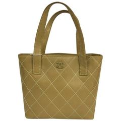 Chanel Surpique Tote Quilted Leather Small