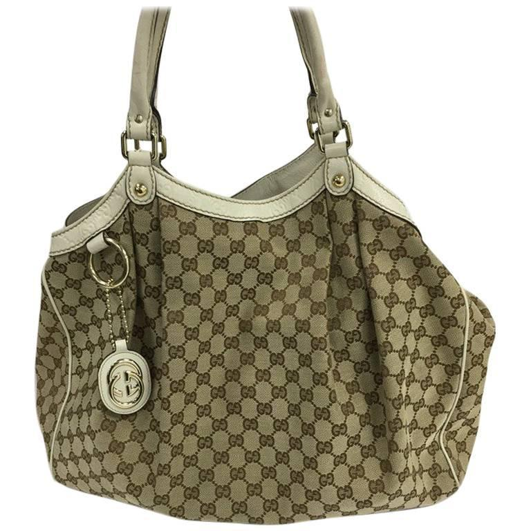 f5cb700fb87c Gucci Sukey Tote GG Canvas Large at 1stdibs