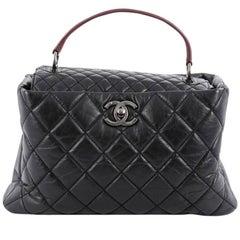 Chanel Inner Flap Shoulder Bag Quilted Aged Calfskin Medium