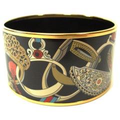 Hermes Les Etriers Enamel Bracelet Large size 6 cm / BRAND NEW