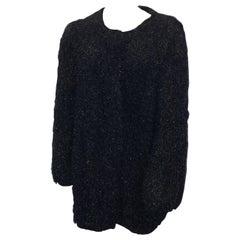 Sonia Rykiel Black Fuzz Coat
