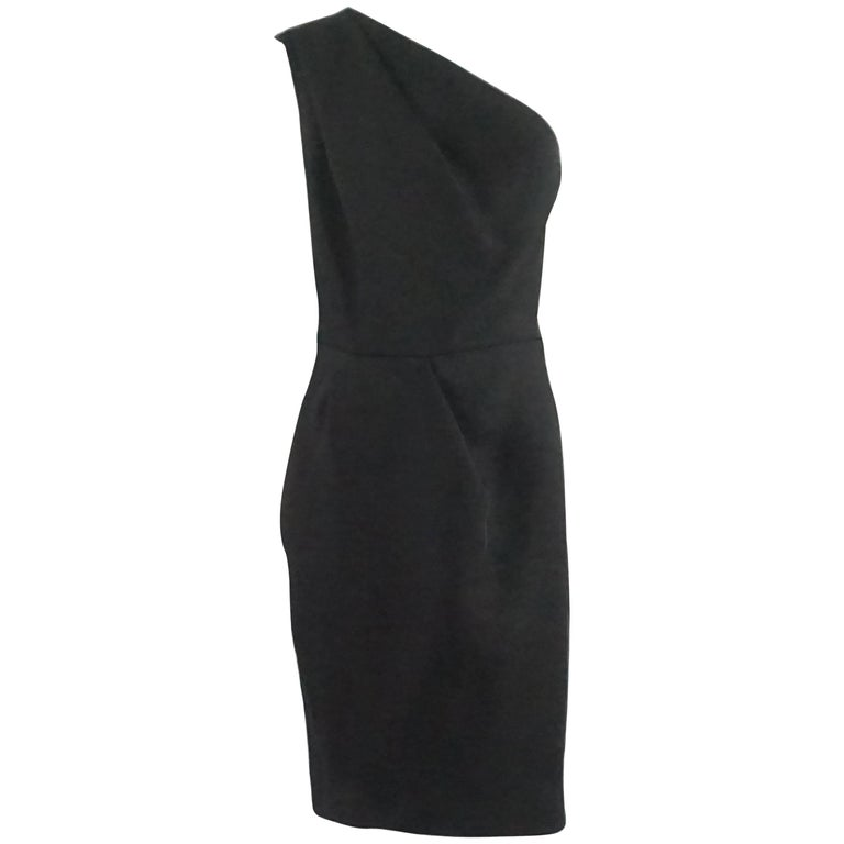 Martin Grant Black One Shoulder Dress - L For Sale