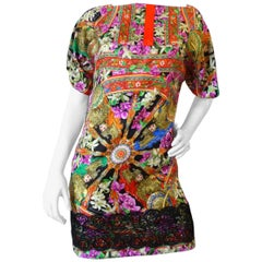 Dolce & Gabbana Medallion Printed Tunic Dress