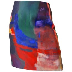 Julie Michel Abstract Painting Skirt