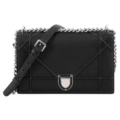 Christian Dior Diorama Flap Bag Grained Calfskin Medium