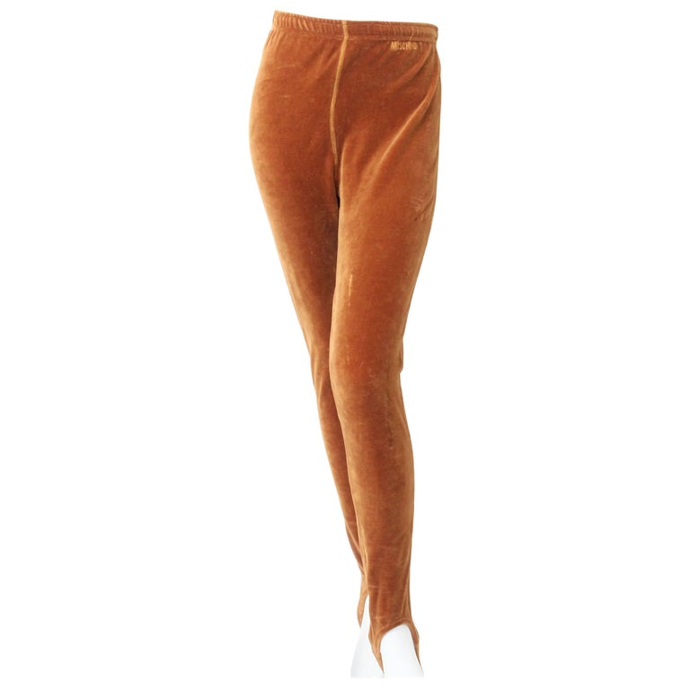 1980s Moschino Velour Stirrup Pants