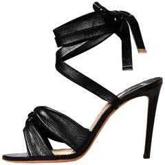 Altuzarra New Sold Out Black Leather Evening Sandals Heels in Box