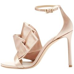 Jimmy Choo New Satin Big Bow Evening Sandals Heels in Box