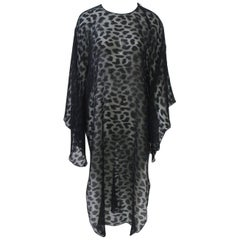 Julio Black Chiffon Tunic/Caftan