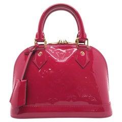 Louis Vuitton Alma BB Pink Vernis Satchel