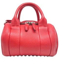 Alexander Wang Red Calfskin Leather Satchel