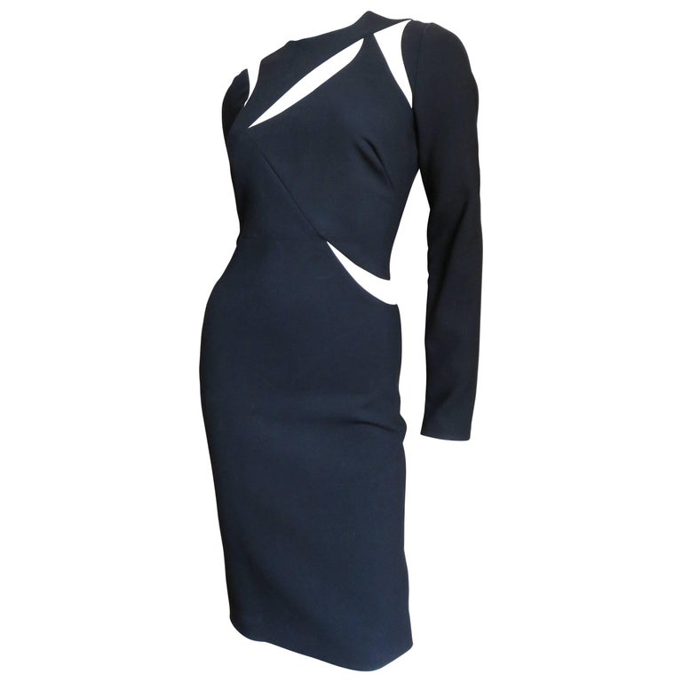 Versace Fabulous Body Con Dress with Cutouts