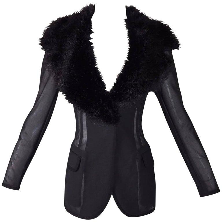 Footlocker Pictures Online Dolce & Gabbana faux fur cropped jacket 2018 Unisex Cheap Online CLPm1kbZ