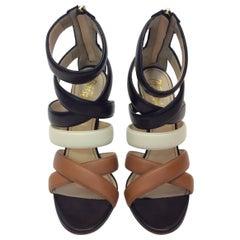 Jerome C Rousseau Floyd Multi Strappy Leather Heels