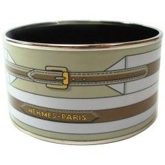 Hermes Les Ceintures Enamel Bracelet Large size 6.5 cm / BRAND NEW