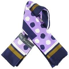 YSL Purple Polka Dot Scarf