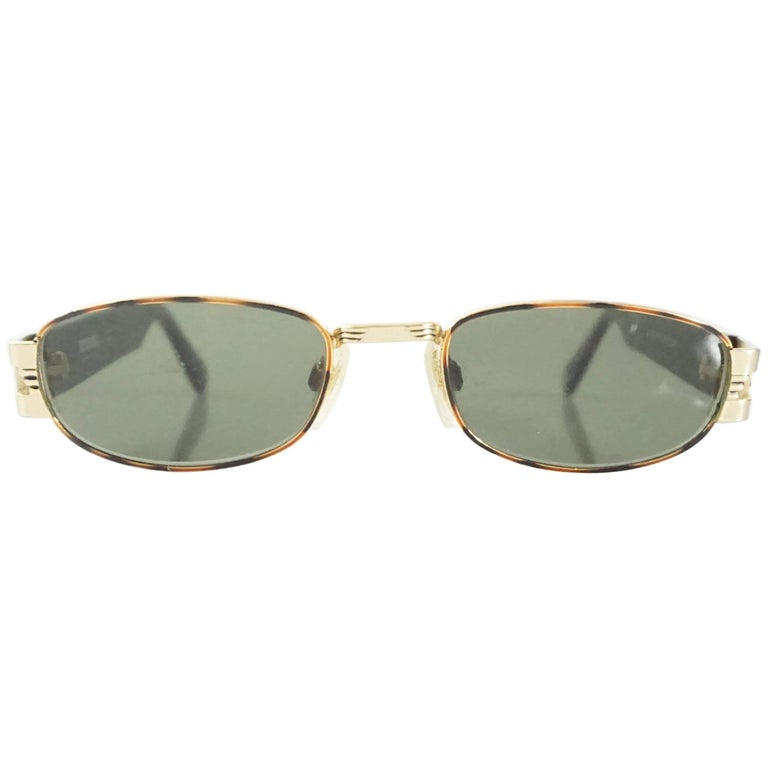 Versus Versace Brown & Gold Tortoise Print Sunglasses