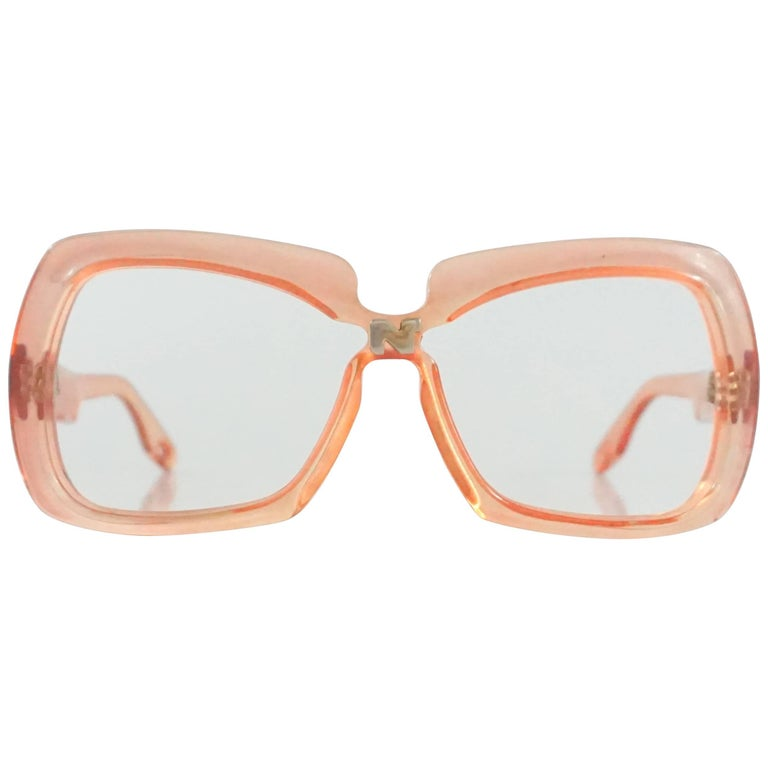Nina Ricci Pink Lucite Square Frames - early 1970's