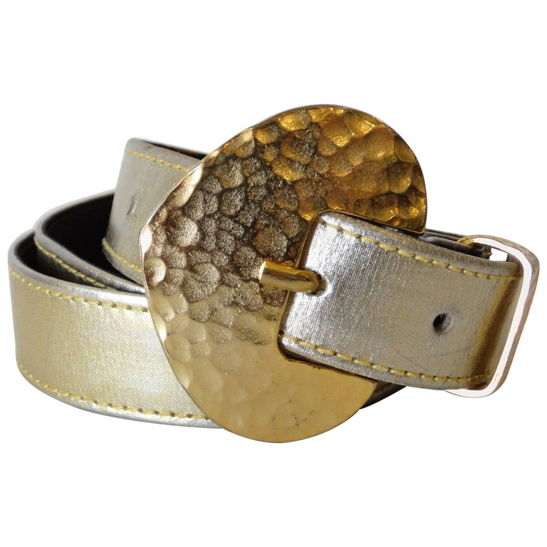 1980s Yves Saint Laurent Metallic Belt