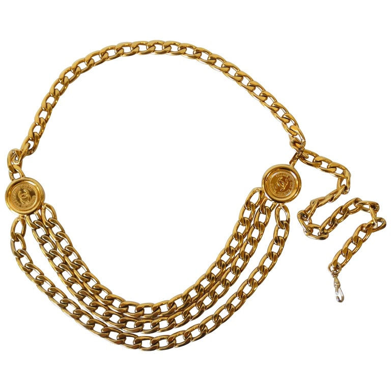 1990s Chanel Triple Chain Belt