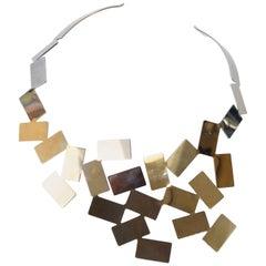 Alessi Stainless Steel Fiato Sul Collo Necklace