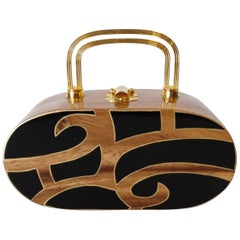 Timmy Woods Lacquered Wood Handbag