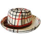 Yves Saint Laurent Wool Plaid Chapeau