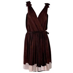 Burgundy Thakoon Silk Wrap Dress