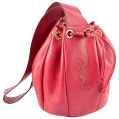 Red Saint Laurent  Bucket Leather Bag