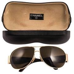 Chanel logo aviator sunglasses