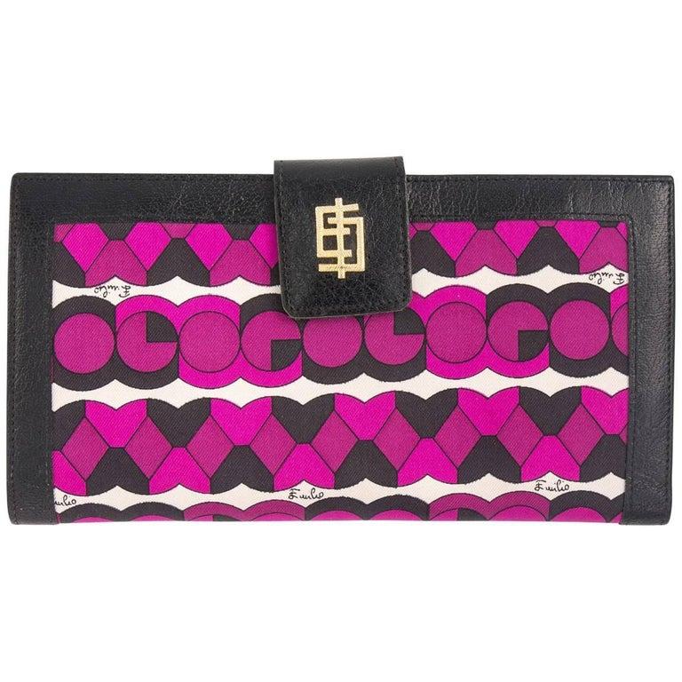 Vintage Emilio Pucci logo clutch wallet  For Sale