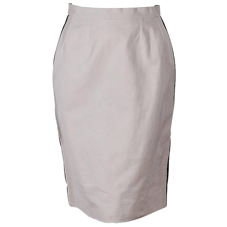 Light Pink Vintage Chanel Pencil Skirt