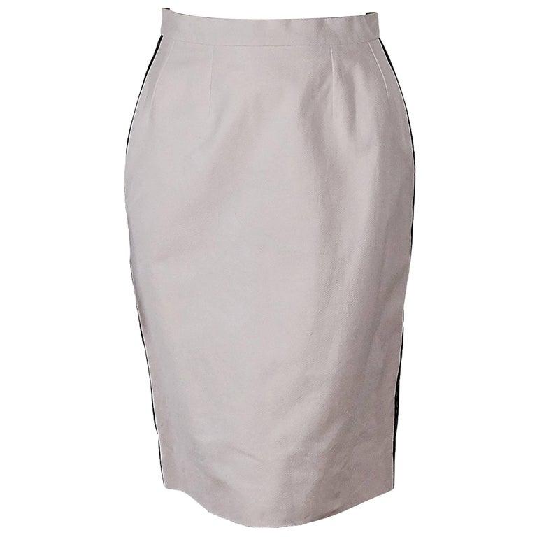 Light Pink Vintage Chanel Pencil Skirt