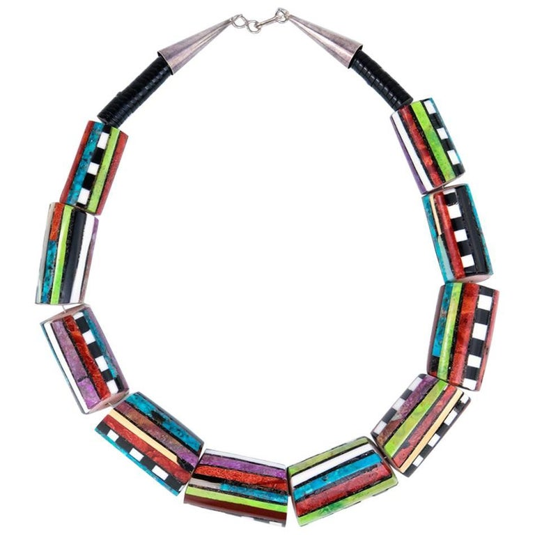 Contemporary Santo Domingo Multii-Stoned Collar 1