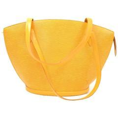 Louis Vuitton Saint Jacques GM Yellow Epi Leather Shoulder Bag