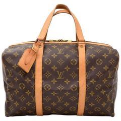 Vintage Louis Vuitton Sac Souple 35 Monogram Canvas Duffle Hand Bag