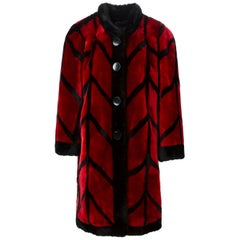 CHRISTIAN DIOR Shearling patterned coat